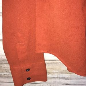 New York & Company Tops - 🧡🍁City Stretch Button Down Blouse Soft Fall Colo